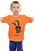 """Детская футболка """"Заяц"""" - скелет, зайц"""