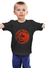 Детская футболка классическая унисекс "Game of Thrones" - dragons, драма, игра престолов, game of thrones, house targaryen