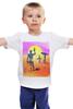 """Детская футболка классическая унисекс """"Отдыхающие с оружием"""" - арт, солнце, sun, оружие, guns"""