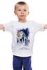 """Детская футболка """"Год лошади (с надписью)                        """" - арт, новый год, год лошади, символ 2014"""