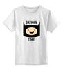 """Детская футболка классическая унисекс """"Batman time"""" - batman, adventure time, время приключений, финн"""