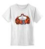 """Детская футболка классическая унисекс """"Тигр культурист"""" - животные, тигр, пауэрлифтинг, gym, качек"""