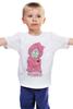 """Детская футболка классическая унисекс """"Мишка Тедди"""" - pink, teddy bear, мишка тедди"""