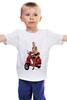 """Детская футболка классическая унисекс """"Девушка на мотоцикле"""" - девушка, эротика, блондинка, мотоцикл"""