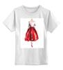 """Детская футболка классическая унисекс """"Red skirt, red lips"""" - красный, мода, fashion, красная юбка"""