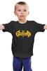 """Детская футболка классическая унисекс """"Бэтмен, (Batman)"""" - batman, бэтмен"""