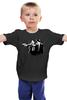 """Детская футболка классическая унисекс """"Киллеры"""" - кот, собака, тарантино, криминальное чтиво, киллер"""