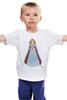 """Детская футболка классическая унисекс """"Не совсем красная шапочка в капюшоне"""" - девушка, капюшон, плащ"""