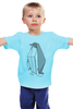 """Детская футболка """"Пингвин Оригами"""" - пингвин, оригами, origami, penguin"""