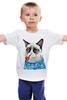 """Детская футболка """"Грустный Кот"""" - приколы, cat, котэ, трубка, grumpy, sailor, моряк"""