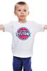 "Детская футболка ""Detroit Pistons"" - баскетбол, nba, detroit, нба, detroit pistons, детройт пистонс"