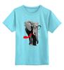 """Детская футболка классическая унисекс """" Классный Слон"""" - слон, слоник, африканский слон, индийский слон"""