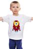 """Детская футболка классическая унисекс """"Iron Minion"""" - мульт, миньоны, iron man, гадкий я, minion"""