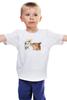 """Детская футболка классическая унисекс """"Лис. Акварель"""" - цветы, графика, лис, fox, акварель"""