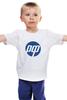 """Детская футболка классическая унисекс """"РФ логотип"""" - россия, техника, hp"""