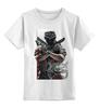"""Детская футболка классическая унисекс """"защитник"""" - арт, авторские майки, оружие, солдат, защитник отечества, спецназ"""