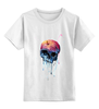 """Детская футболка классическая унисекс """"Bleeding skull"""" - skull, череп, apple"""