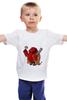 """Детская футболка классическая унисекс """"Fat Hellboy"""" - обжорство, hellboy, хеллбой"""