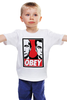 """Детская футболка классическая унисекс """"OBEY"""" - путин, медведев, obey, putin, medvedev"""
