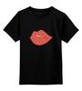 """Детская футболка классическая унисекс """"Bite Me (Укуси Меня)"""" - губы, kiss, поцелуй, вампир, укуси меня"""