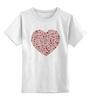 """Детская футболка классическая унисекс """"Сердца в сердце серая"""""""