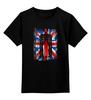 "Детская футболка классическая унисекс ""10th флаг UK (Доктор Кто)"" - doctor who, флаг, доктор кто, тардис"