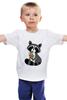 """Детская футболка классическая унисекс """"Милый Енот"""" - енот, raccoon"""