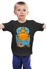 """Детская футболка классическая унисекс """"Кот Гарфилд"""" - cat, пиво, гарфилд, beer, пицца"""