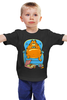 "Детская футболка ""Кот Гарфилд"" - cat, пиво, гарфилд, beer, пицца"