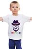 "Детская футболка ""хипстер"" - style, очки, hat, шляпа, усы, hipster, shades, mustache"