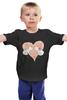 """Детская футболка """"Будь моим Валентином! """" - любовь, день святого валентина, поцелуй, котята"""
