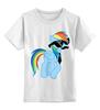 """Детская футболка классическая унисекс """"20 % cooler"""" - pony, rainbow dash, mlp, пони, ponies"""
