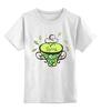 """Детская футболка классическая унисекс """"Зеленый чай"""" - весна, spring, зеленый чай, green tea, весенний"""