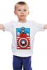"Детская футболка ""Капитан Америка. Винтаж"" - comics, marvel, poster, марвел, vintage, капитан америка, captain america"