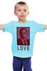 """Детская футболка классическая унисекс """"ValenPutin"""" - сердце, путин, розы, президент, putin"""