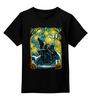 """Детская футболка классическая унисекс """"Мононоке"""" - аниме, ван гог, волк, звездная ночь, принцесса мононоке"""