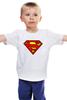 """Детская футболка классическая унисекс """"superman"""" - супермен, superman, dc"""
