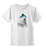 """Детская футболка классическая унисекс """"Белый медведь"""" - polar bear, белый медведь"""