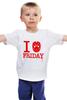 """Детская футболка классическая унисекс """"Пятница 13"""" - friday 13, пятница 13"""