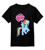 """Детская футболка классическая унисекс """"my little pony"""" - аниме, для детей, пони, радуга, my little pony"""