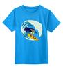 """Детская футболка классическая унисекс """"Бэтмен Серфер"""" - batman, бэтмен, серфинг, surfer, серфер"""