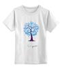 """Детская футболка классическая унисекс """"new year"""" - дерево, new year, новыый год"""