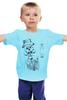"""Детская футболка классическая унисекс """"Teao#13"""" - skull, череп, джентельмен, дети, шляпа, усы, корова, mustache, дотворк, лайнворк"""