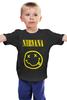 "Детская футболка ""Nirvana "" - nirvana, рок, kurt cobain, курт кобейн, нирвана"
