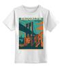 """Детская футболка классическая унисекс """"Brooklyn"""" - new york, нью-йорк, сша, brooklyn, бруклин"""