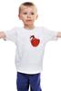 """Детская футболка классическая унисекс """"любовь война"""" - heart"""
