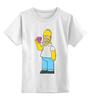 """Детская футболка классическая унисекс """"Homer Simpsons"""" - прикольные"""