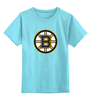 """Детская футболка классическая унисекс """"Boston Bruins"""" - медведь, хоккей, nhl, бостон, boston bruins"""