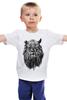 """Детская футболка классическая унисекс """"Лев Викинг"""" - лев, lion, викинг"""