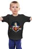 """Детская футболка классическая унисекс """"Супермен"""" - супермен, superman"""